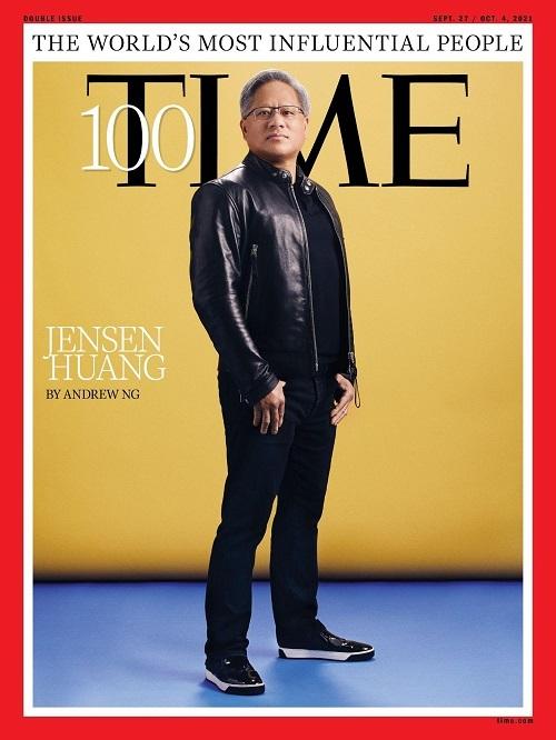 Президент NVIDIA Дженсен Хуанг на обложке журнала Time