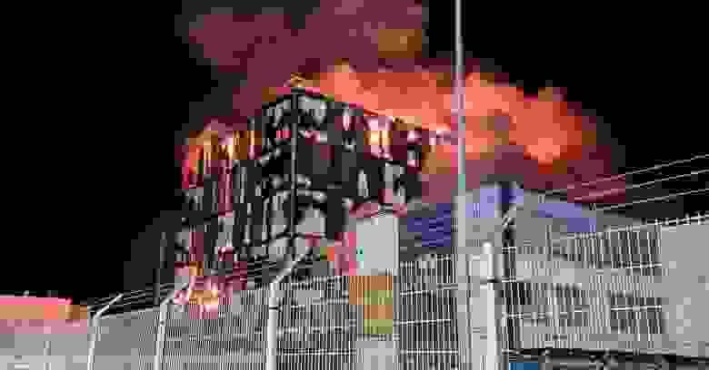 Пожар в дата-центрах OVH в марте этого года; автор фото — Xavier Garreau