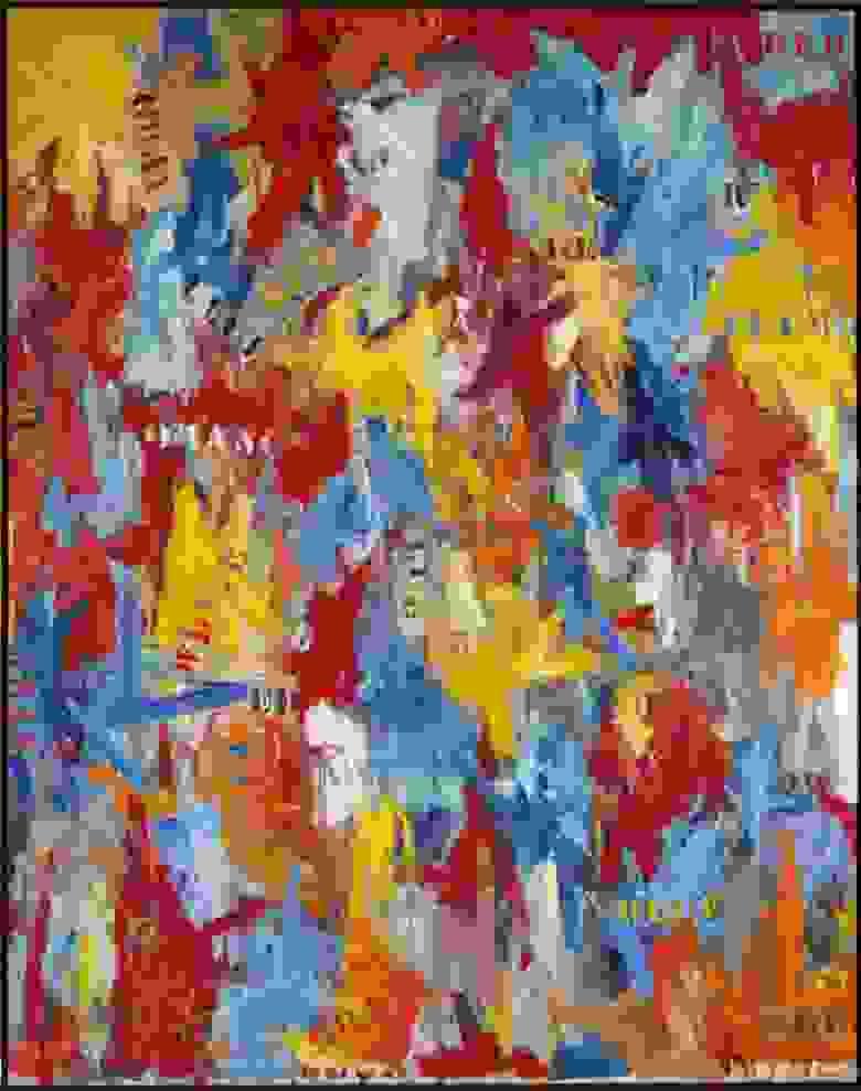 «Фальстарт», Джаспер Джонс, написана в 1959 г.