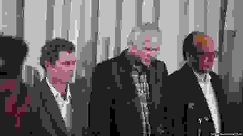 Слева-направо: Брюханов, Дятлов и главный инженер ЧАЭС Фомин на вынесении приговора