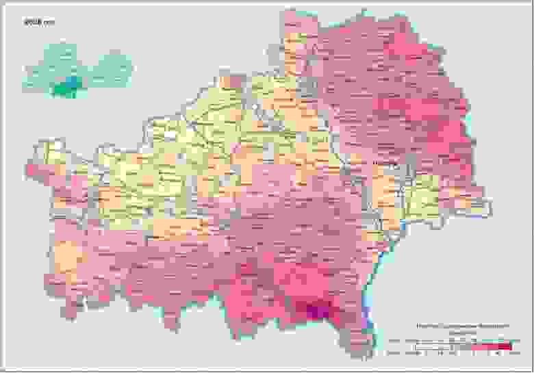 Прогноз загрязнения Гомельской области Цезием-137 в 2026