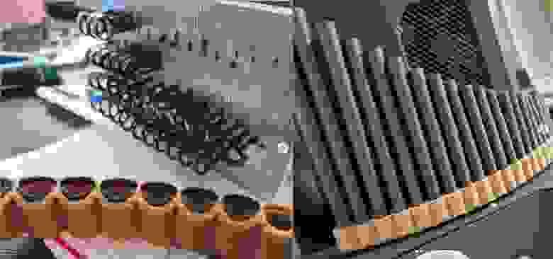Сборка трубок с обвязкой и лабиумом