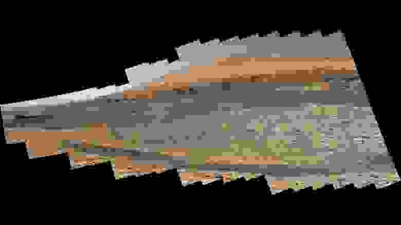 Фотография горы Эолида, по склону которой предстоит подняться «Кьюриосити»