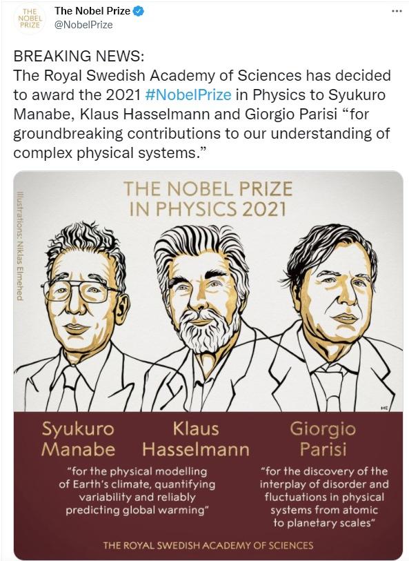 Из твиттера Нобелевского комитета