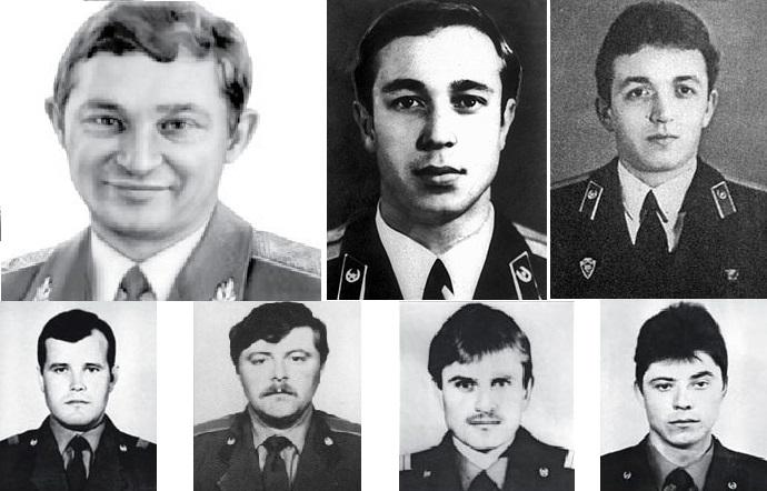 Телятников, Правик, Кибенок, Василий Игнатенко, Владимир Тишура, Николай Тытенок, Николай Ващук. Все они, кроме Телятникова, умрут через несколько дней в Москве.