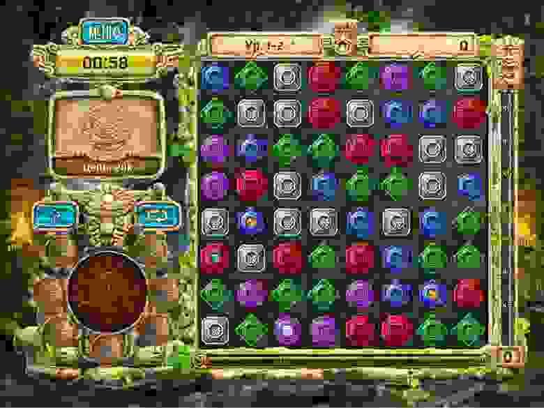 Игры с одинаковым геймплеем могут отличаться сеттингом: в первом случае представлен сеттинг «Принцесс», а во втором — «Поиск сокровищ»