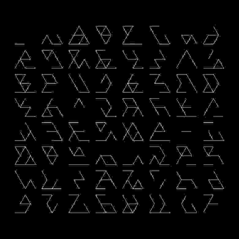 Marius Watz: Permutations of Prime Hex B, световая инсталляция