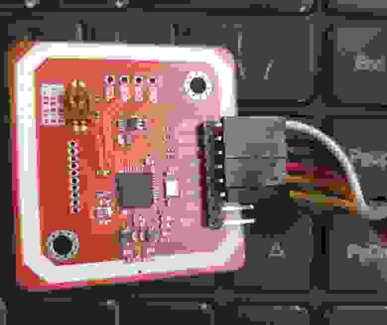 Включенный режим I2C и подключенные соединительные провода