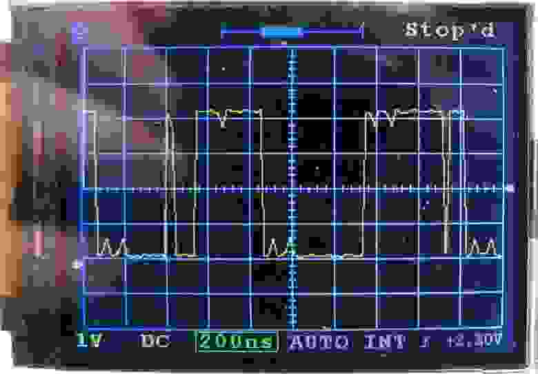 Fig.10. 48 MSPS. 1 MHz meander with artificial distortions.