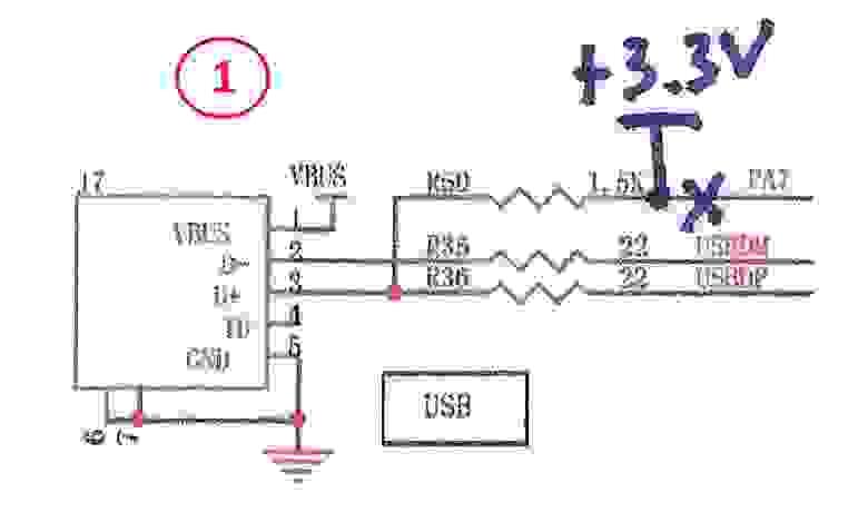 Fig.3. USB schematics changes.