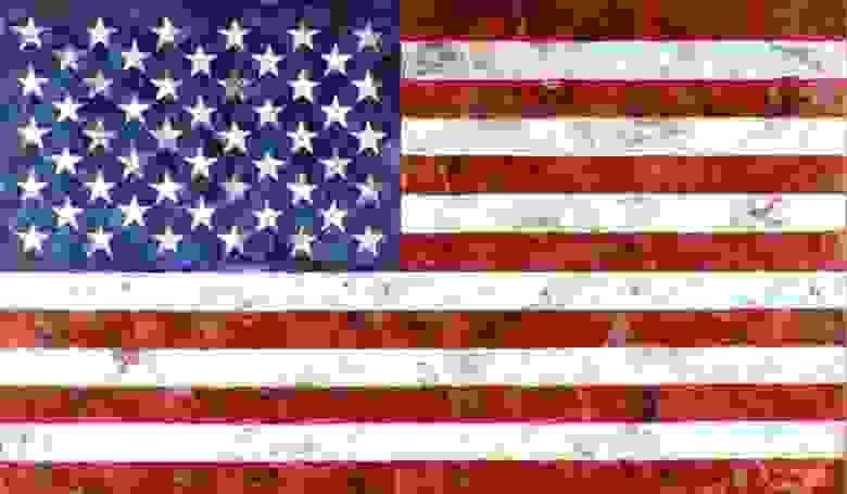 «Флаг», Джаспер Джонс, 1958 год.