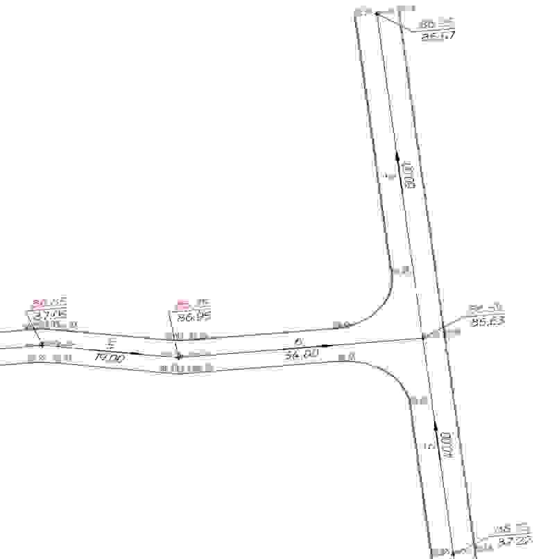 Рис. 21 Пример выполнения перекрестка командой «Сопряжение геонов»