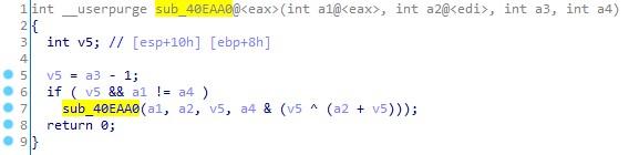 Функция с рекурсивным вызовом (вариант без обфускации)