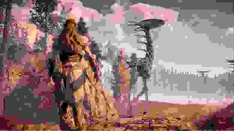В Horizon Zero Dawn окружение рассказывает о событиях, которые произошли за сотни лет до основного сюжета