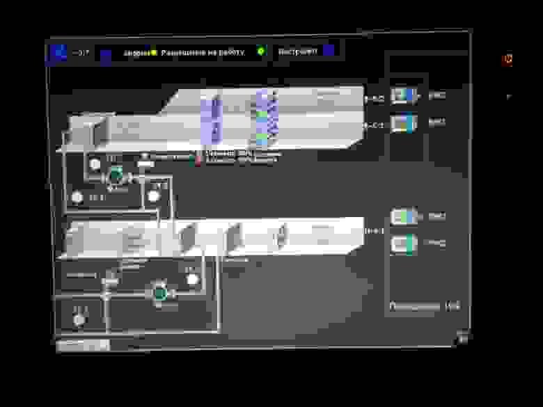 Приточно-вытяжная установка с гликолевым рекуператором. Панель оператора 10 дюймов.
