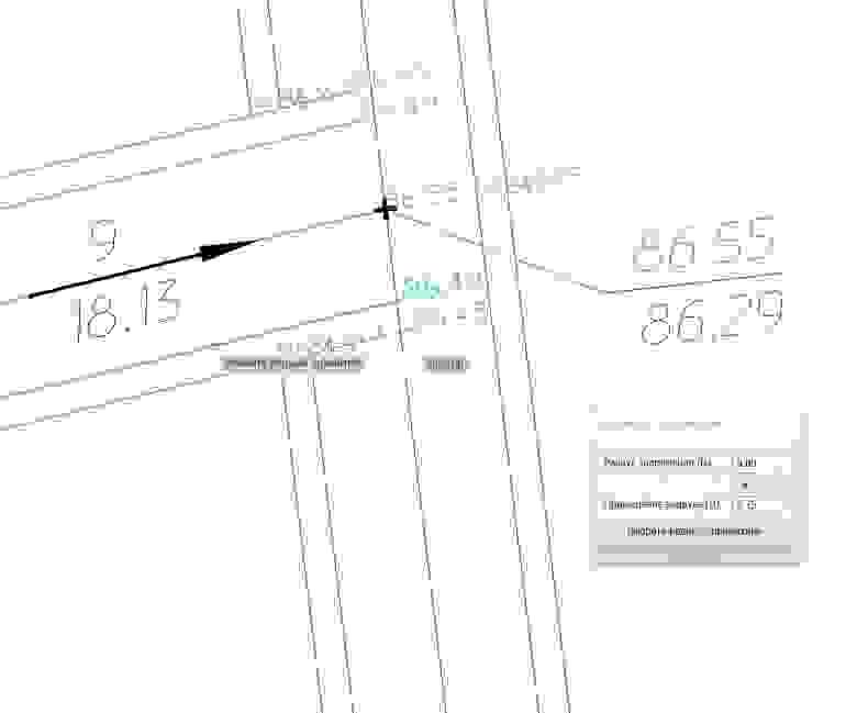 Рис. 38 Пример выполнения перекрестка с обочинами командой «Сопряжение геонов»