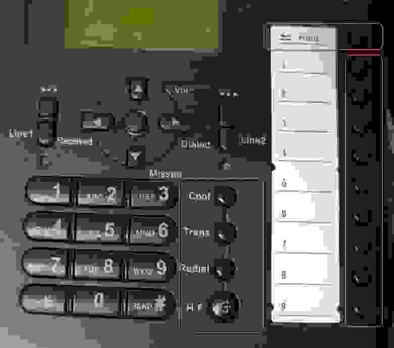 Блок функциональных и программируемых кнопок
