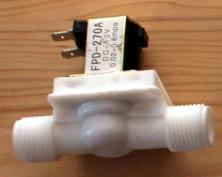 пластиковый соленоидный клапан, белый