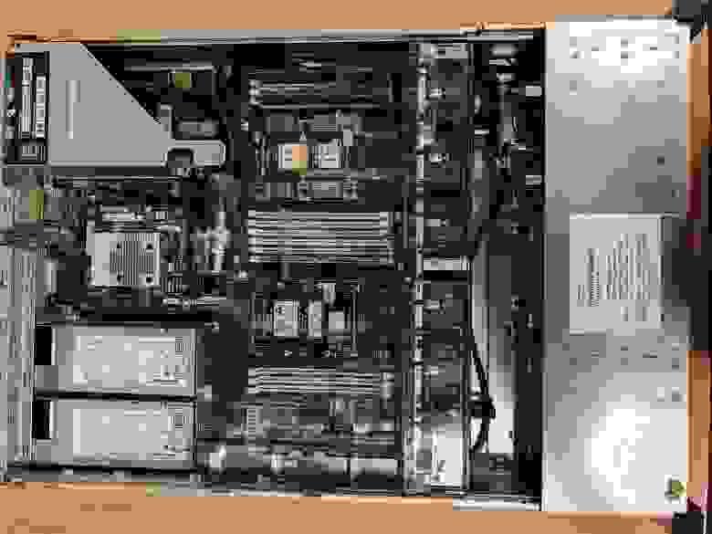 Шасси HPE ProLiant DL180 Gen10, вид сверху