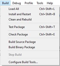 Build меню