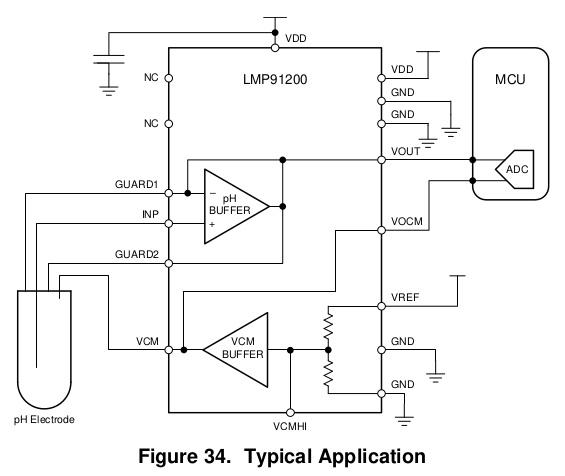 схема типичного применения LMP91200 из даташита. ti.com
