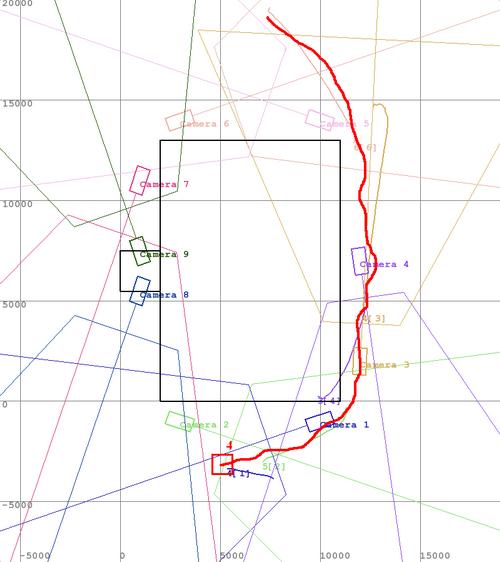 Обобщененая траектория движения объекта на карте с использованием многокамерной видеоаналитики