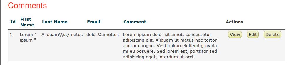 view comment