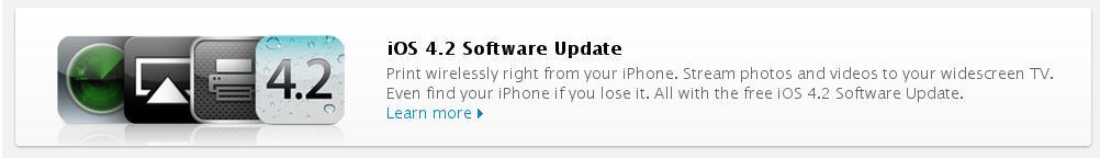 Релиз iOS 4.2 для iOS-устройств
