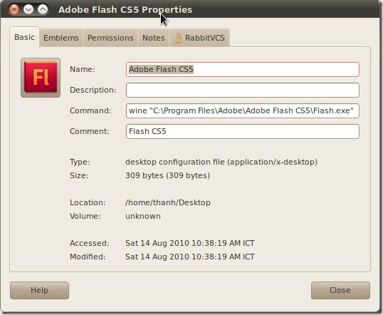 start of adobe flash cs5 in ubuntu by means of wine it daily blog rh developers club com Adobe Flash Cs5.5 Adobe Flash CS5 Logo