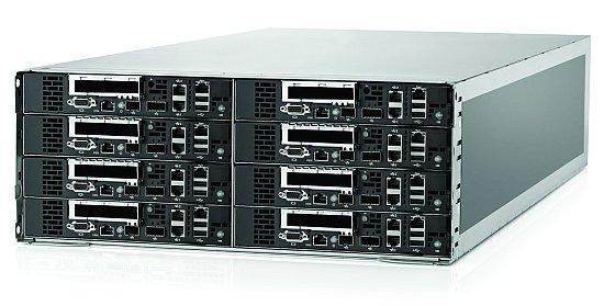 Шасси HP ProLiant SL6500 с восемью одноюнитовыми модулями ProLiant SL390s G7