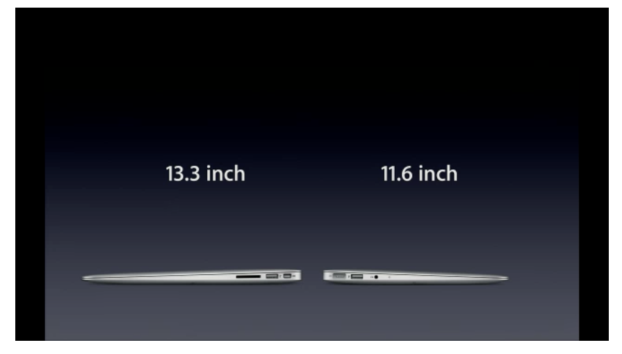 Apple анонсировала 11,6-дюймовый ноутбук MacBook Air