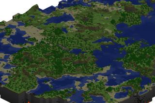 Карта игры Minecraft, созданная с помощью приложения Cartograph