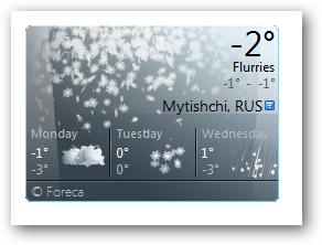 Гаджет погоды Windows 7