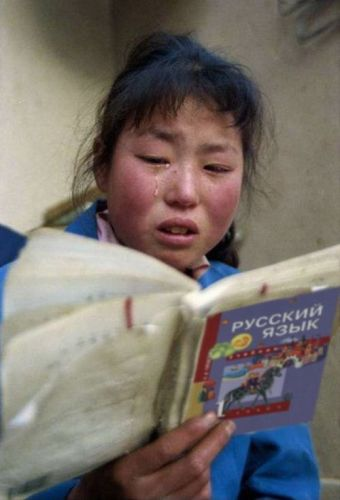 Russian language makes chinese cry