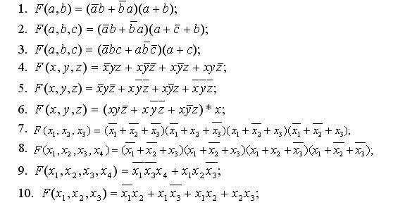 Проектирование логических схем с помощью функций алгебры логики.