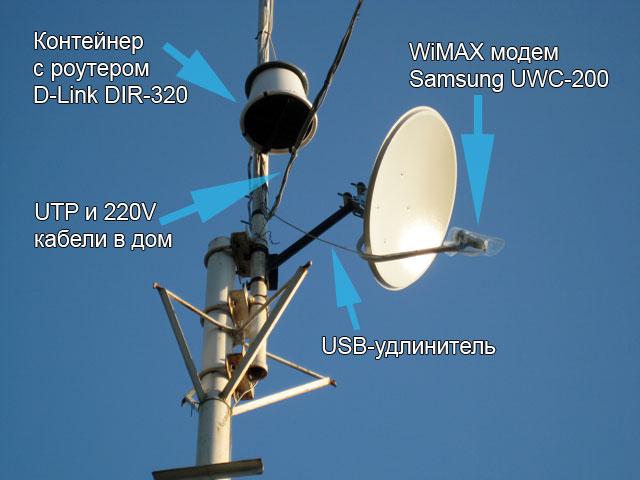 DIR-320 на высоте 8 метров