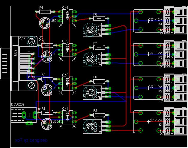 На схеме использован порт DB9