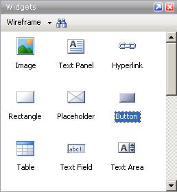 Панель виджетов (Widgets)