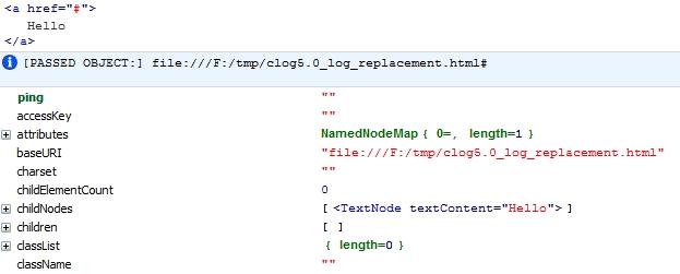 Передан html объект