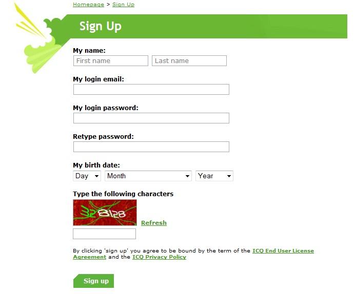 Как мне сделать юин и пароль для аськи