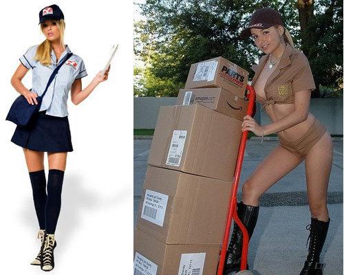 Sexy postgirl