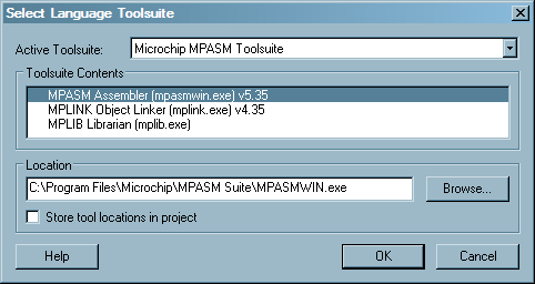 Microchip MPASM Toolsuite