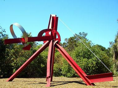 Скульптура `Решето Эратосфена` (Стэнфордский университет)