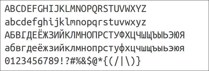 Шрифты Ubuntu Font Family 0.80, теперь с Ubuntu Mono и Ubuntu Condensed