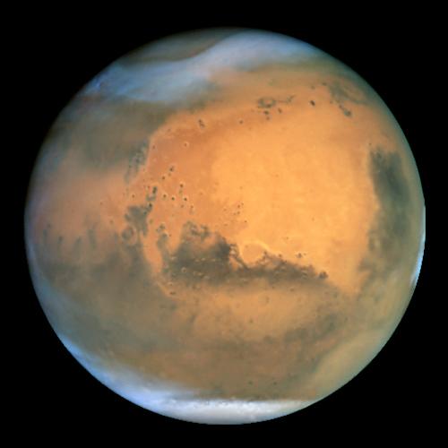 Красная планета Марс, снимок с космического телескопа Hubble (NASA)