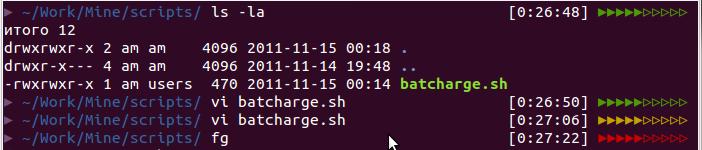 Command line prompt, zsh