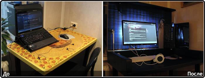 Письменный стол с поворотной столешницей своими руками 47