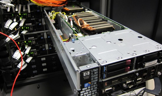 Сервер HP ProLiant SL390s G7 в полке SL6500