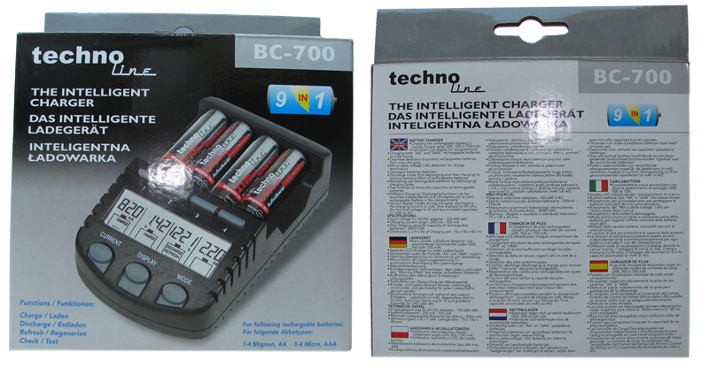 box of TechnoLine BC-700