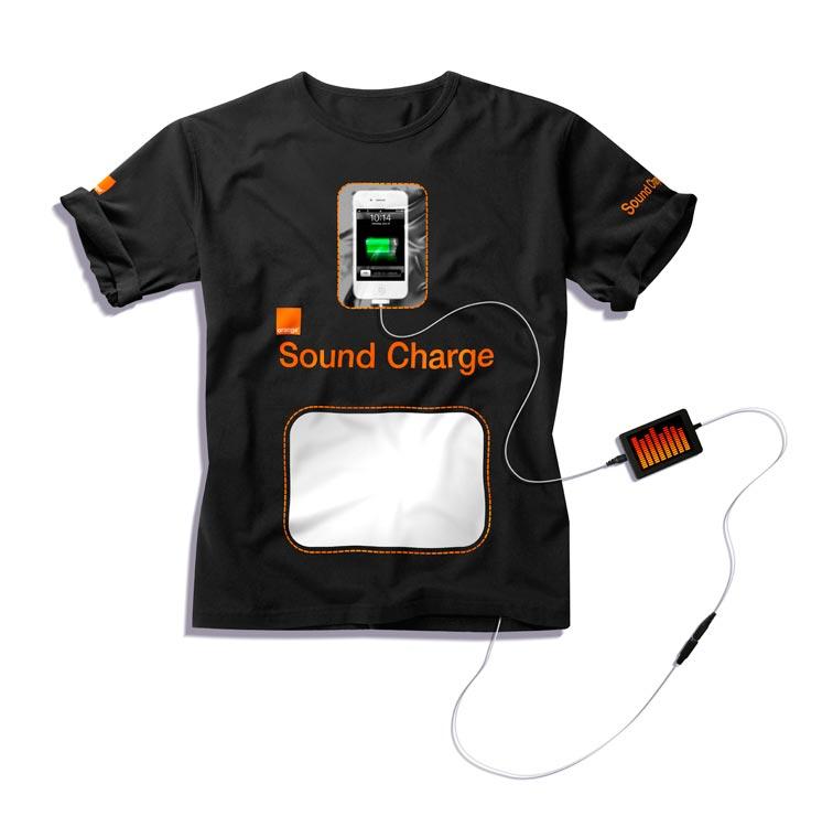 Футболка-зарядка от Orange
